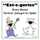"""Cat-e-gories"" Brain Based Word Work Reading Game"