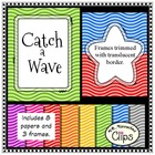 Catch a Wave - Background Paper and Frame Collection