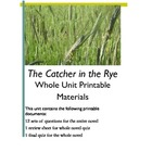 Catcher in the Rye Printables - Chapter Worksheets, Test R