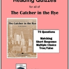 Catcher in the Rye Quizzes - Entire Novel