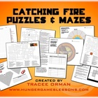 Catching Fire Activities Crossword, Logic, Word Find, Maze