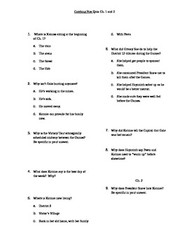 Catching Fire Quiz Ch. 1 and 2