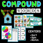 Catchy Compound Words Centers and Flashcard Games