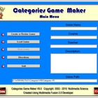 Categories Game Maker - Version 6 - Single User License