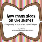 Categorize 3, 4, 5, 6, 7 sided shapes. MIMIO 3rd-5th gr ST