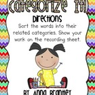 Categorize It! Literacy Center FREEBIE