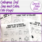 Category Sort, Say & Color! For the entire year!