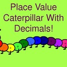 Caterpillar Place Value With Decimals Wall Hanging (rainbow)