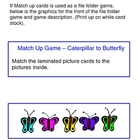 Caterpillar to Butterfly File Folder Games