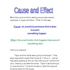 Cause and Effect Activity and Mini-Lesson