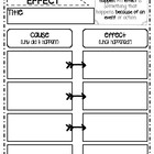 Cause and Effect Graphic Organizer-Treasures 3rd Grade