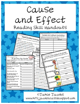 Cause and Effect Handouts