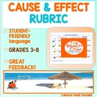 Cause and Effect Rubric Scale - Marzano Compatible