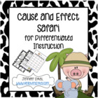 Cause and Effect Safari - Task Cards, Matching Game, Scoot