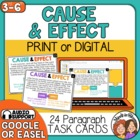 Cause and Effect Task Cards: 24 Cards to identify Cause an