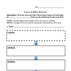 Cause and Effect - Worksheet for Any Topic(s)