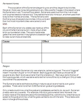 Cause and Effect in Ancient Sumer and Sumerians