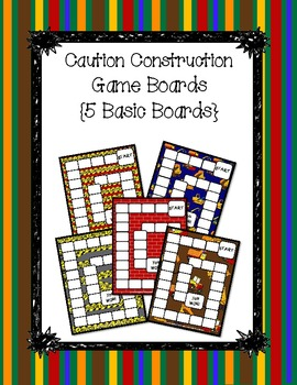Caution Construction Game Boards