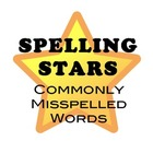 Ceiling Spelling Stars: Commonly Misspelled Words for Midd