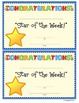 "Celebrate Community:  ""Star/Student of the Week"" Activities"
