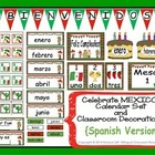 Celebrate MEXICO! Calendar Set and Classroom Decorations {