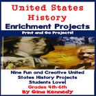 "Fun, Creative ""Celebrate The United States"" Enrichment Wri"