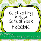 Celebrating a New School Year Freebie