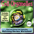 Cell Organelles (Structure and Function) Matching Workshee