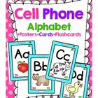 Cell Phone Alphabet Posters, Cards, Flashcards, and Alphab