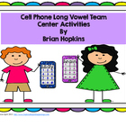 Cell Phone Long Vowel Pairs - Texting, ABC Order, Sorting