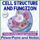 Cell Structure and Function Powerpoint and Notes