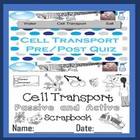 Cell Transport Quiz for Special Needs Education  English L