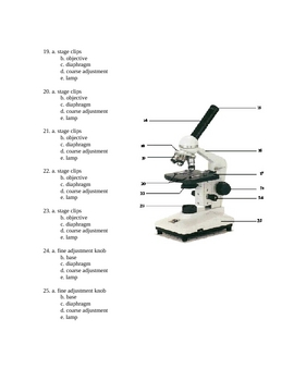 Cell  and MIcroscope Test