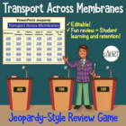 Cells - Transport Across the Membrane Powerpoint Jeopardy Review