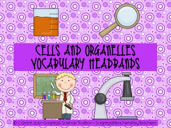 Cells and Organelles Vocabulary Headband Activity