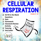 Cellular Respiration Quiz, Homework or Review