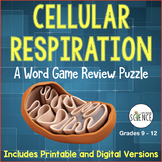 Cellular Respiration Word Game Review: Glycolysis, Krebs,