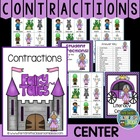 Center Game &quot;Contractions&quot; Grammar Skill / Word Work / Com