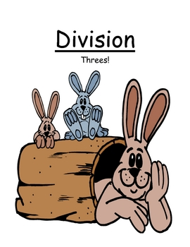 Center Game Math Division ~Over 50 Pages~ Divide By Three 3!
