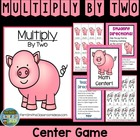 "Center Game Math Multiplication {2 Times Tables} ""Doubles"""