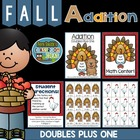 "Center Game Math ~Over 50 Pages~ Addition ""Doubles Plus On"
