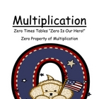 "Center Game Math ~Over 50 Pages~ Multiplication ""Zero Is O"