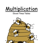 Center Game ~ Multiplication Eleven (11) Times Tables ~ 52 Pages!