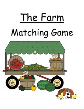 Center Game, Primary ~ Farm Seeds ~ Matching Game for Pre-K & K