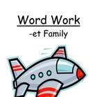 Center Game &quot;The -et Family!&quot; Word Work / Phonics / Spelling Unit
