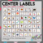 Center Labels- Gray Poke-a-Dot