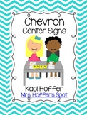 Center Signs {Chevron}
