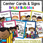 Center Signs and Cards  Programmable 2 in 1 set (Bright Bubbles)