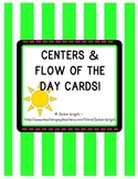 Center Signs and Flow of the Day/ Schedule Cards SIMPLE DE