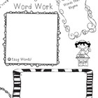 Center Word Work Sheet (2) (Freebie, NOT endorsed by The2Sisters)